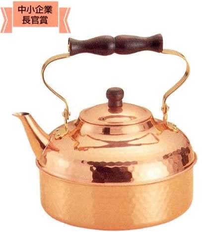 COPPER 100 pure copper mallet eyes Put kettle 2L by Shinko metal