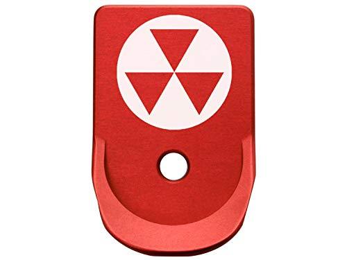 Magazine Base Plate for Glock Gen 1-5 Finger Extended 9MM .357 .40 NDZ Red Fallout Shelter Symbol 1