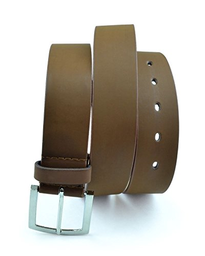 Moda Di Raza- Men's 'Basic' Leather Belt - Brown/XL
