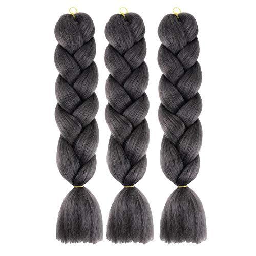 - CXYP 24 Inch Synthetic Braiding Hair 3pcs/lot Afro Jumbo Braiding Hair Extensions 100g/pc Kanekalon Fiber for Twist Braiding Hair
