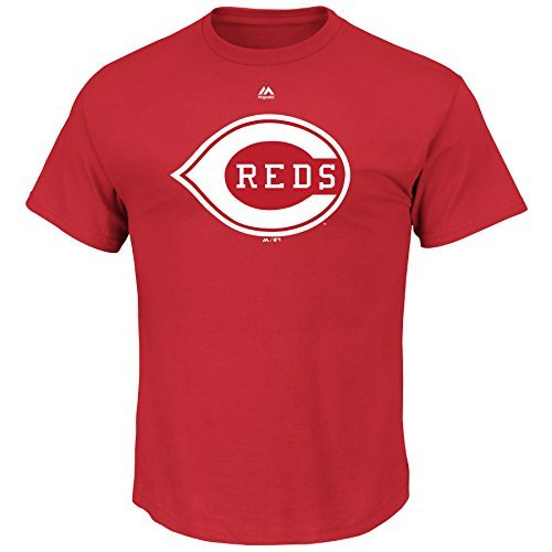 (Majestic Cincinnati Reds Cooperstown Official Logo Red T-Shirt -)