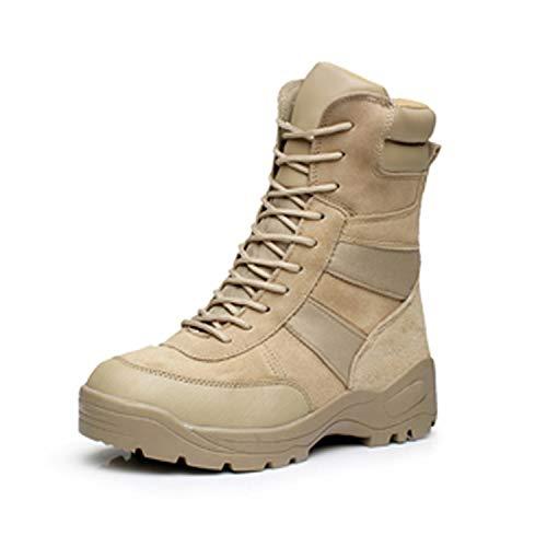 EUR 39-45 Snow Boots Men Shoes Men Leather Military Boots Black+Khaki,Garnish 1,11.5