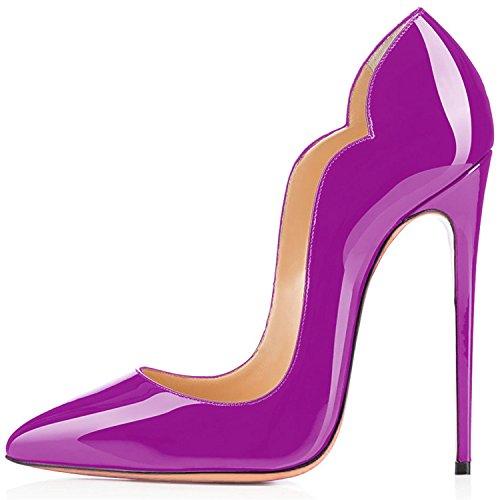 Soles Rouge Laçage Ubeauty Taille Violet B Chaussures Femmes Talon Escarpins Stiletto Aiguille Grande ICIwgxXnq
