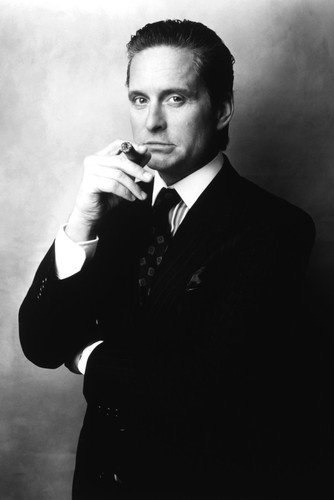 Michael Douglas Wall Street 24x36 Poster iconic in suit with cigar Silverscreen