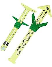 2 Pcs Measuring Sewing Tool Set, 5-in-1 Sliding Gauge Measuring Sewing Ruler Tool Fabric Quilting Ruler for Sewing DIY Work Quilting Knitting Hemming Measuring Supplies