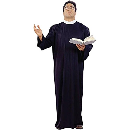 Adult Men's Plus Size Priest Costume (Size: XX-Large 44-48) -