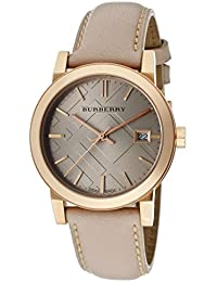 burberry watch outlet ixop  Burberry Women's BU9109 Beige Leather Strap Watch
