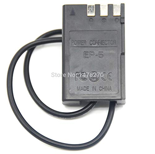 Pukido EP-5 EP5 EP 5 DC Coupler (4.0mm1.7mm) EN-EL9 ENEL9 dummy battery for Nikon D40 D40X D60 D3000 D5000 Digital Cameras - (Plug Type: 4017 Female) (Nikon D40 D40x For Dummies)