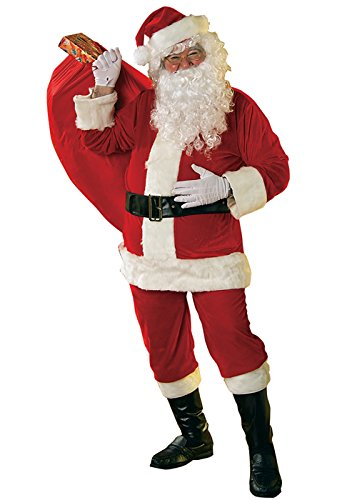 (Rubie Velour Santa Suit Adult Costume - Large)