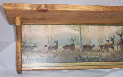 Lodge Shelf - Wood Shelf Solid Pine Deer Lodge Plate Rack Country Home Decor Handcrafted