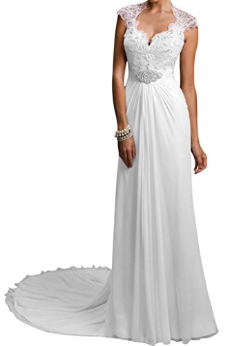 Gorgeous Bride Modisch Lang Rueckenfrei Etui Chiffon Spitze Satin Brautkleider Hochzeitskleider
