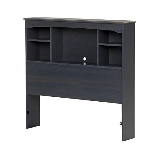 South Shore Aviron 39'' Bookcase Headboard, Twin, Blueberry