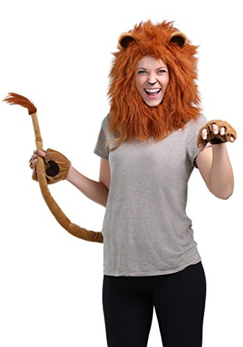 (Fun Costumes Deluxe Lion Kit Standard Brown )