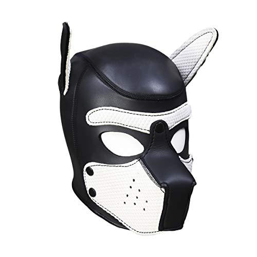 Meihuida Neoprene Full Face Mask Dog Puppy Hood Custom Animal Head Mask Novelty Costume Dog Head Masks -