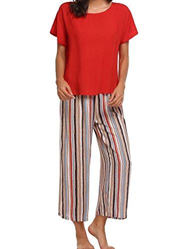 Avidlove Mujer Pijama Camiseta y Pantalones de Rayas: Amazon.es: Ropa y accesorios