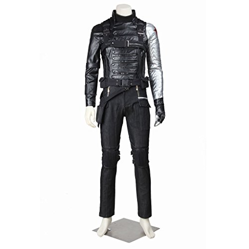 CosplayDiy Men's Suit for Captain America II: The Winter Soldier Bucky Barnes CM (Custom Made Captain America Costume)