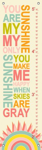 you are my sunshine growth chart - 2
