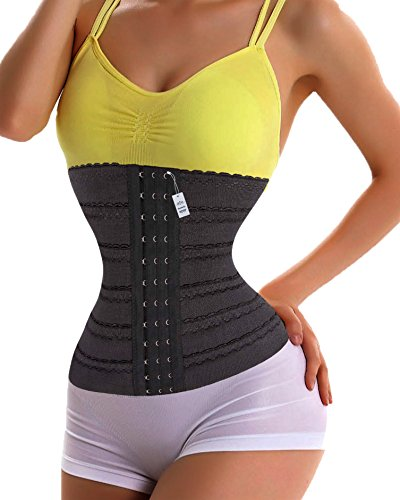 Price comparison product image Gotoly Waist Trainer Corset For Weight Loss Fitness Body Shaper (M,  Black)