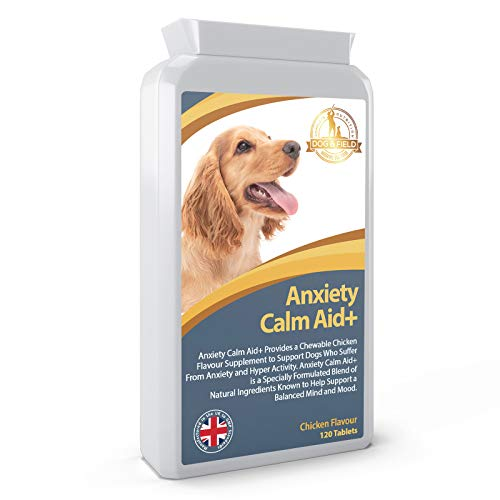 Anxiety Calm Aid+ A Natural Health Supplement for Anxious or Hyperactive Dogs & Cats 120 Tablets