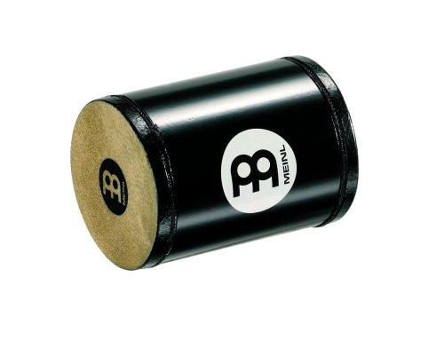 (Meinl Percussion SH6-S-BK Natural Rawhide Shaker, Black)