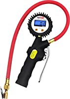 EPAuto 255 PSI Digital Tire Inflator Gauge with Hose and Quick Connect Coupler