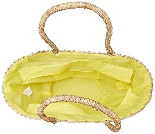 Molly Bracken Panier Ananas - Borse a mano Donna, Giallo (Yellow), 19.5x29x48 cm (W x H L)