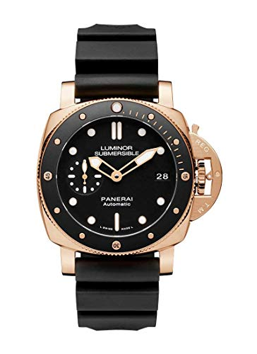 Panerai Submersible Rose Gold Goldtech Divers Watch 42mm