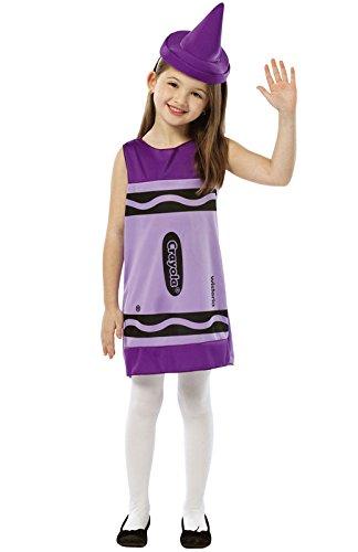 [Rasta Imposta Crayola Tank Dress, 4-6, Wisteria] (Crayola Wisteria Crayon Costumes)