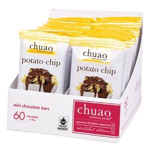 Chocolate Bars - Chuao Chocolatier Potato Chip Chocolate Bars 24pk (.39 oz mini bars) - Best-Selling Chocolate Pack - Gourmet Artisan Milk Chocolate - Free of Artificial -