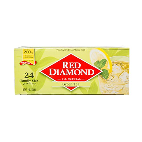 - Red Diamond Green Tea Bags Family Quart Size, 24 Count (Pack of 6) (Makes 144 Quarts)