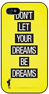 """iPhone 6 (4.7"""") Don't let your dreams be dreams - black plastic case / Life and dreamer's quotes"""