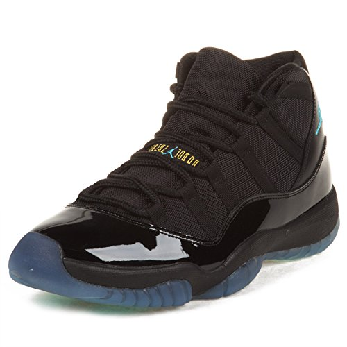 Nike Mens Air Jordan 11 Retro Black/Gamma Blue Leather Ba...