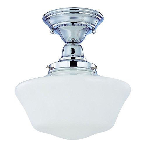10-Inch Schoolhouse Ceiling Light in Chrome Finish - Chrome Finish 10 Light