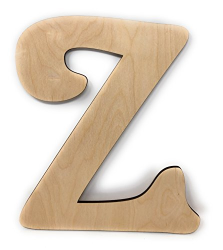 Gocutouts 12quot Wooden Z Unfinished Wooden Letters Paint Ready Unfinished Wall Decor Craft Cutout 12quot Z