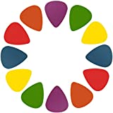 GPCT Standard Acoustic Electric Guitar Picks. Unique Designs In Assorted Colors, 3 Different Sizes Light/Thin, Medium, Heavy/Thick - Bass/Mandolin/Ukulele. For Kids, Beginners, Professionals! 12 PACK