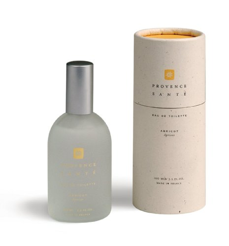 (Provence Sante PS Eau de Toilette Apricot, 1 Glass Bottle in a cardboard tube)