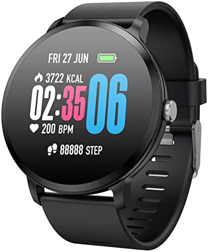 Smart Watch Color Touch Screen GPS Sports Digital Watch Fitness Tracker Heart Rate Sleep Blood Pressure Monitor Watches for Android iOS Pedometer Activity Tracker Watch