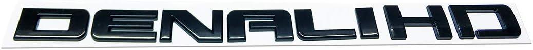 1x Glossy Denalihd Denali Hd Nameplate Replacement Emblems for Gm 07-16 Yukon Sierra Terrain (Black)