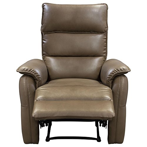 Diamond Sofa # WALSHRCHCF- Walsh Manual Reclining Accent Chair in Coffee Air Leather