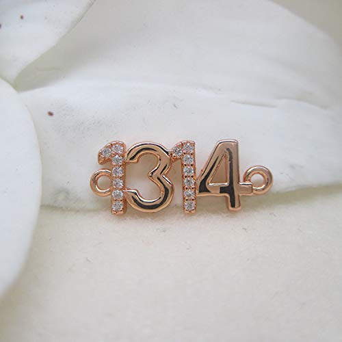 findings diy stop plated copper inlet connector insert micro beads woven bracelet necklace pendant chain couple two holes 1314 (rose gold (about 18mm x wide about 7 ()