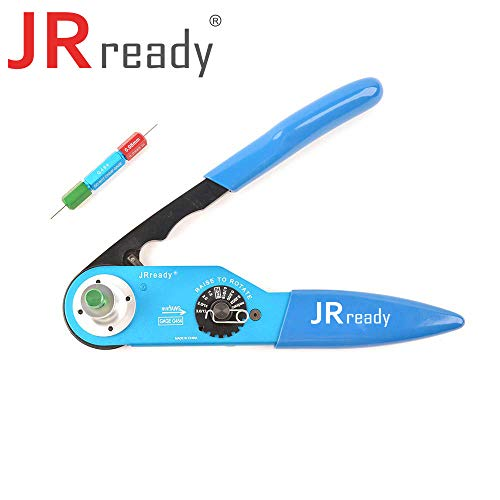 JRready ST2052 Crimp tool KIT :YJQ-W2DT (HDT-48-00) &G454 GAGE, Deutsch terminal 12, 16, 20 solid contacts&wire cable range 12-22 AWG (Hdt 48 00 Deutsch Solid Barrel Crimping Tool)