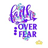 Faith Over Fear Vinyl Decal for Tumbler, Laptop, or Car, Bible Verse Christian Decal