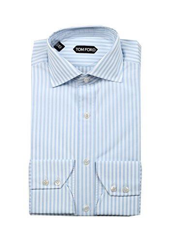 CL - Tom Ford Striped White Blue Shirt Size 39/15,5 U.S.