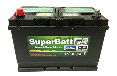 12V 110AH SuperBatt CB110 Deep Cycle Leisure Battery Caravan Motorhome -...