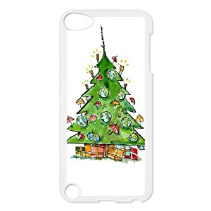 Custom Christmas Gift,Santa Claus Design Plastic Case for Ipod Touch 5 5th Generation