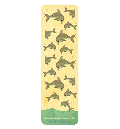 - Dancing Dolphins Wood Bookmark/Ruler by Night Owl Paper Goods