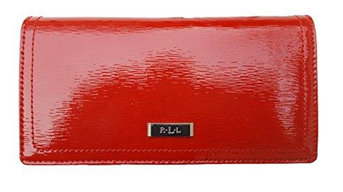 Lauren Ralph Lauren Women's Lowell Slim Wallet (Slim, Red/Silver/Red) by Lauren by Ralph Lauren