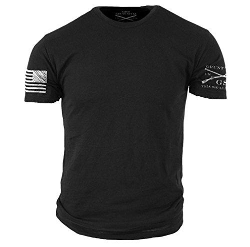 Grunt Style Basic Men's T-Shirt (Large, Black) by Grunt Style