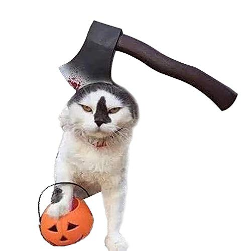 Ollypet Halloween Costume Pet Headband Style Variation Costume Scary Setup Accessory Cat Dog Head wear Cute Puppy Outfit Horror Party Theme Dress Zombie Prop (S)