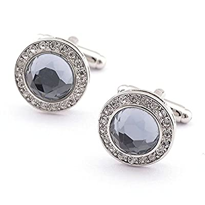 Chryssa Youree Elegant Swarovski Crystal Circular Stainless Steel Luxury French Tuxedo Shirt Wedding Business Cufflinks (XK-09) by Chryssa Youree that we recomend individually.